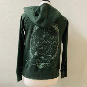TWILIGHT New Moon BP nordstrom green zipper hoodie